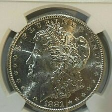 1881-S $1 NGC MS 63 Morgan Silver Dollar  ~~ Excellent Luster ~~ (007)