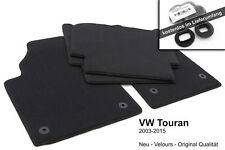 NEU! Fußmatten VW Touran (1T) Original Qualität Velours Automatten 4x graphit
