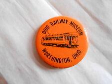 Vintage Ohio Railway Museum Worthington Ohio Souvenir Pinback Button