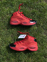 Reebok Question Mid Heart Over Hype FH8VV8Z Red NBA Allen Iverson Shoes Size 4.5