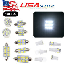 14pcs White LED lights T10 36mm Dome Map & Tag lamp for Interior package Kit USA