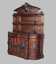 American Victorian Walnut Huntboard Sideboard Buffet - original finish