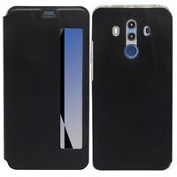 """Etui View Case Flip Folio Leather NOIR pour Huawei Mate 10 Pro 6.0"""" BLA-L09"""