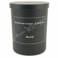 Scentsational Natural Soy 11oz Single Wick Black Premium Candle - BOLD SCENT