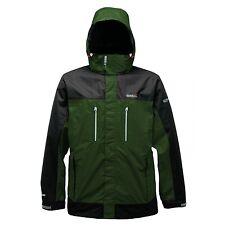 REGATTA CALDERDALE MENS WATERPROOF GREEN ASH JACKET HIKING WALKING RMW056 NEW