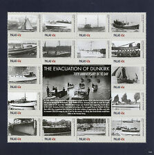 Palau 2015 MNH VE Day 70th Anniv Evacuation Dunkirk 16v M/S I Ships WWII Stamps