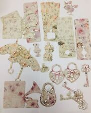 VINTAGE PAPER DIE CUT OUT x30 piece card craft scrapbook Embellishment topper