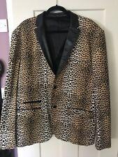 Leopard Print Rockabilly Jacket Teddy Boy Rocker Rock And Roll