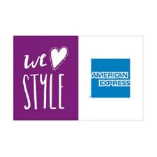 """American Express We Love Style Decal Sign Set of 5 Boutique Stickers 5"""" x 3.25"""""""