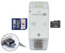 USB Flash Drive SD TF Card Reader For iPhone 8 7 6s 6 Plus 5 s iPad Air Mini 2 3