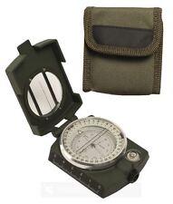 Armeekompass Metall mit Etui BW Bundeswehr Marschkompass Navigation