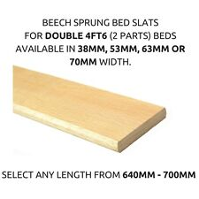 Replacement 4ft6 Double Bed Beech Sprung Curved Bed Slats/Slates 38mm,53mm,63mm