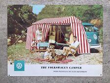 Volkswagen VW Westfalia Microbus Safari Camper Bus Van Advertising Poster Sign
