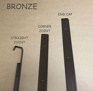 BRONZE Kitchen Worktop Edging Strips 40mm & 30mm End,Corner,Straight *CHEAPEST**