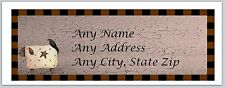 Personalized Return Address Labels Primitive Country Buy 3 get 1 free (c 921)