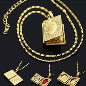 Gold Plated Openable Islamic/ALLAH/Photo Locket Box Pendant Necklace