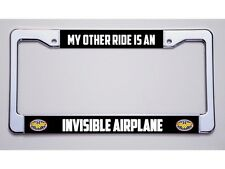 "WONDER WOMAN? ""MY OTHER RIDE IS AN/INVISIBLE AIRPLANE""!LICENSE PLATE FRAME"