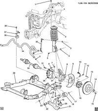 GM # 25873502 FRONT SWAY BAR BUSHINGS * NEW / OE *  2008-2009 EQUINOX/TORRENT