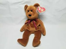 Authentic Ty Beanie Baby Rare Brown New Face NF Teddy 2nd/1st Gen MWCT!