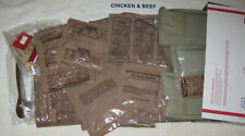 """Meal Ready to Eat (MRE) """"14/41"""" Emergency Meal Kit (Chicken & Beef) 9 lbs Lot D"""