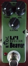 BYOC Lil Beaver Russian Version Fuzz Pedal Silkscreen Powdercoat New ASSEMBLED