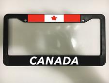 CANADA CANADIAN MAPLE LEAF FLAG TORONTO QUEBEC Black License Plate Frame NEW