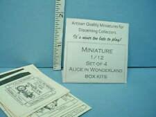 Miniature Alice In Wonderland Box Kits Set of (6) Looking Glass Minis - 1/12th