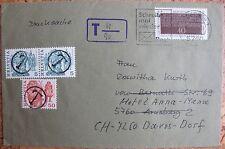BRD Mi.Nr. 1105, CH Mi.Nr.1100A,1105 auf Brief mit T Stempel in der Schweiz