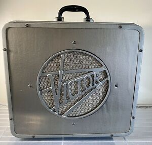 RCA Victor 16mm Projector 12in Speaker w/12in Reel & Cable Art Deco Vintage