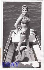 Silvana Pampanini busty leggy VINTAGE Photo candid 1955 at Venice Film Festival