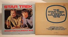 Vintage 1976 Star Trek Original Series Stardate Calendar