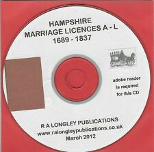 Hampshire Marriage Licenses CD 1689-1837 [A-L] Bishop's records