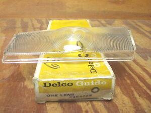 1963 Pontiac Catalina Star Chief parking lamp lens Delco-Guide #5954065 NOS!