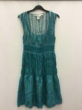 Studio M boohoo dress turquoise blue rayon/polyester size M sleeveless