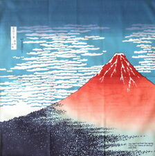 Japanese Ukiyoe Cotton Furoshiki Cloth The Red Fuji Hokusai