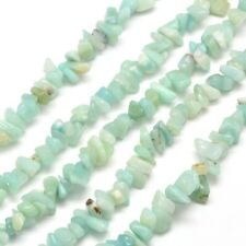 "Amazonite Gemstones Chips One Strand (34"") 250+ Beads P00105T"