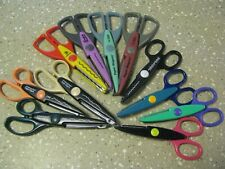 11 Pair Decorative Edge Craft Scissors Lot Fiskars Paper Edgers and Other Brands