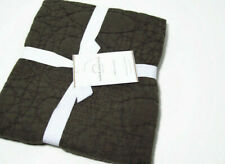 Pottery Barn Dark Brown Washed Cotton Euro Pillow Cover Sham New