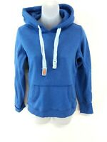 SUPERDRY Womens Hoodie Jumper XS Blue Cotton & Polyester