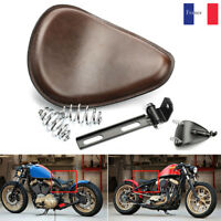 Moto 3'' Ressort SOLO Support Selle Siège Pour Harley Chopper Bobber CustomBrown
