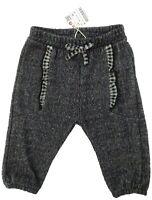 Zara baby Girl grey ruffle TROUSERS 3/6M 9/12M tweed soft jersey BNWT