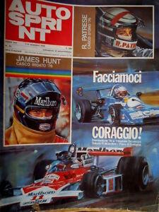 Autosprint 49 1976 Patrese Casco Oro 76. Rally Inghilterra: dominio Escort [C52]