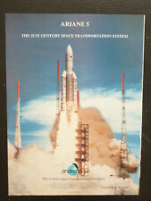 1/1998 PUB ARIANESPACE ARIANE 5 SPACE ESPACE FUSEE ROCKET RAKETE SATELLITE AD