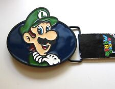 Luigi Nintendo Super Mario Brothers Metal Belt Buckle Officially Licensed