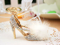 KC004 High-heeled shoes Keyring Rhinestone Crystal Pendant KeyChain Bag Gift