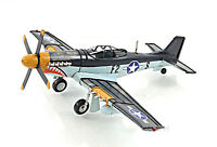 "North American P-51 Mustang Metal Desk Model 12"" WWII Aircraft Airplane Decor"