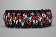 550 Paracord Survival Bracelet King Cobra Black/Afghan Vet Camping Tactical