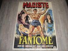 CINEMA  AFFICHE ORIGINALE MACISTE CONTRE LE FANTOME / GORDON SCOTT   120X160