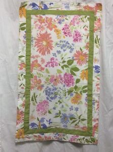 Pillow Shams Martha Stewart Set Of 2 KING White Green Floral Country Shabby P4