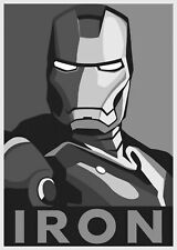 61853 Iron Man Black And White Wall Print POSTER UK